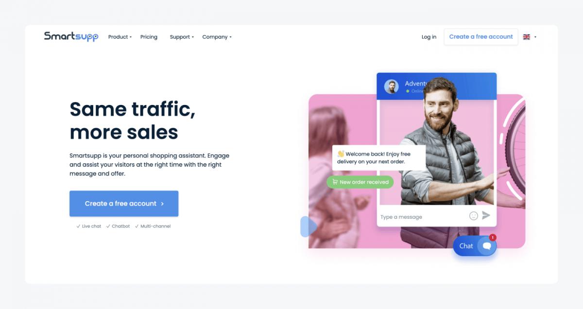 Smartsupp's homepage