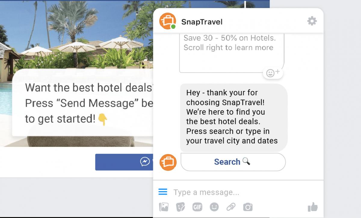 snapTravel chatbot