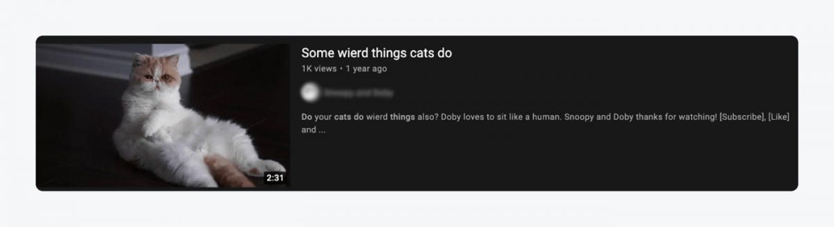 """Snapshot of a comment on an online forum titled """"Some wierd things cats do"""""""