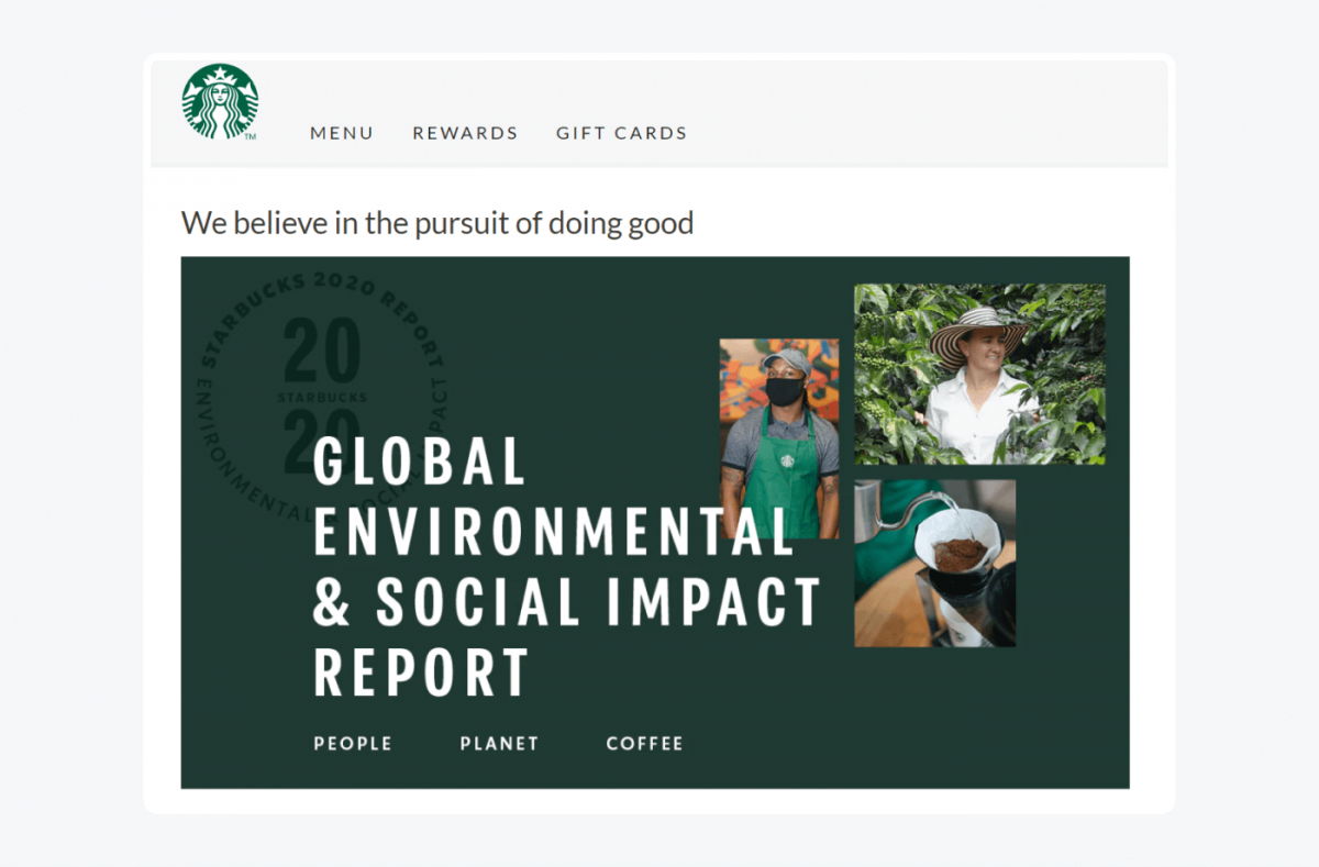 Starbucks's Global Environmental & Social Impact Report