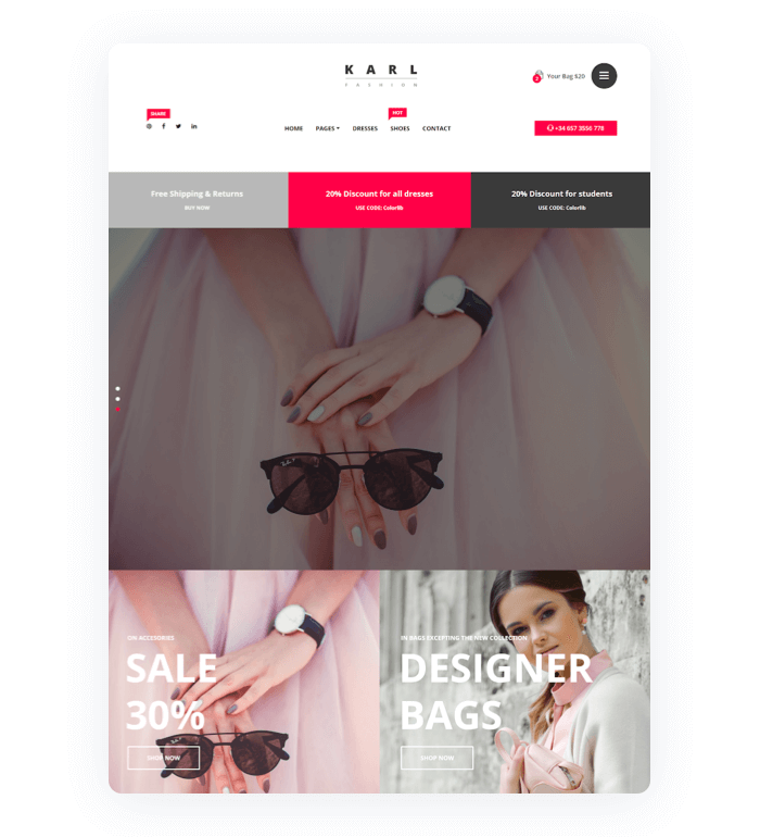 An example of a store theme