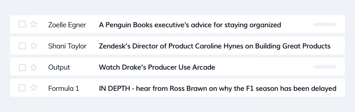 Examples of expert subject lines