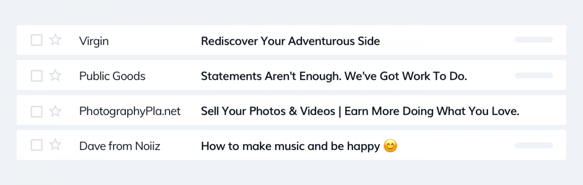 Good examples of email subject lines that call to action