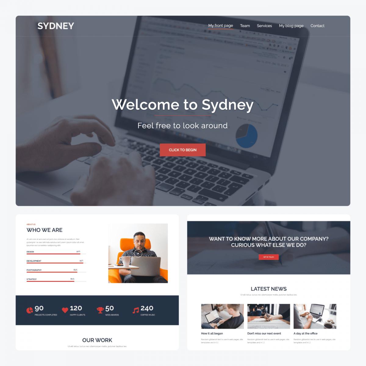 Sydney theme demo