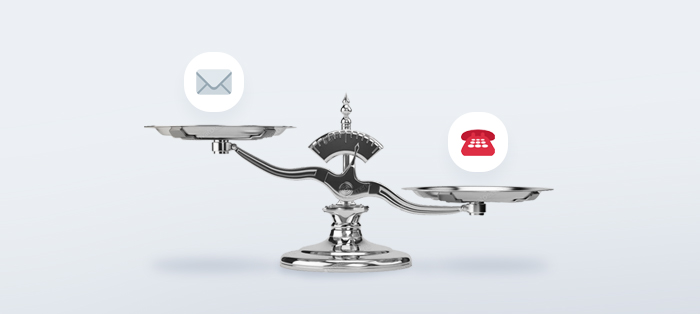 Tap: Cold email vs Cold Phone
