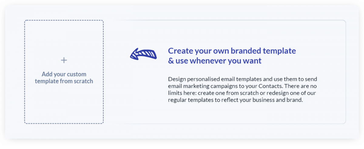 A screenshot explaining how to create email template from scratch in Tidio