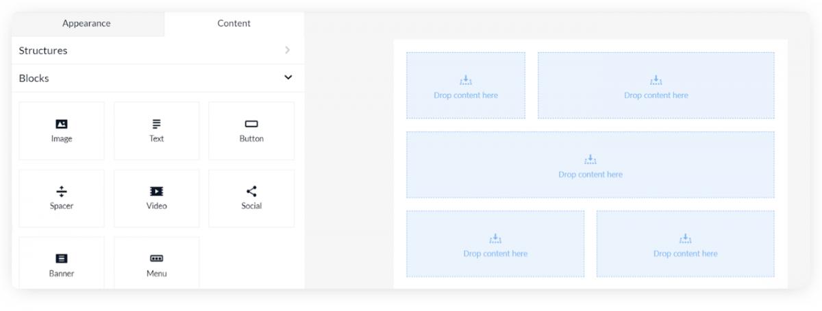 Email design builder