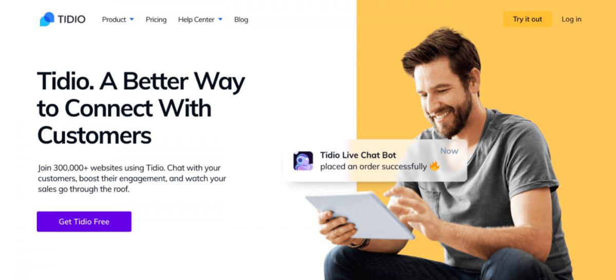AI chatbot service - Tidio