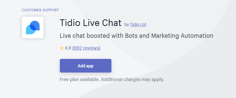 Tidio live chat reviews