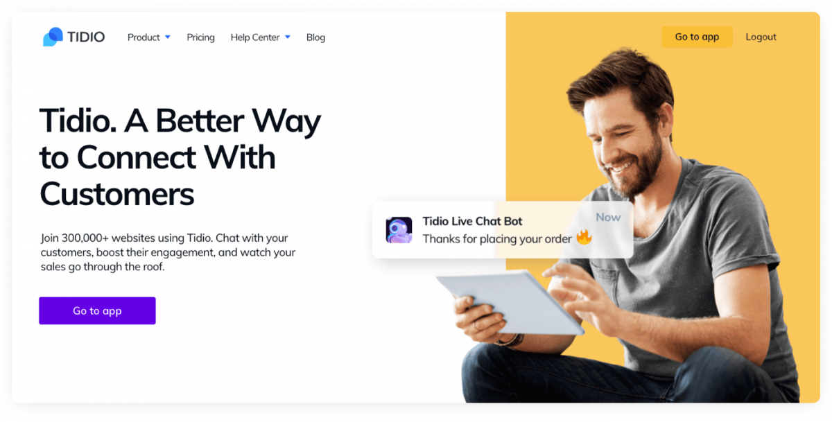 Tidio chatbots for Shopify