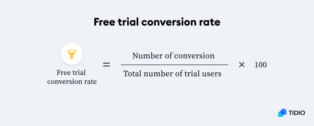 Free trial conversion rate formula