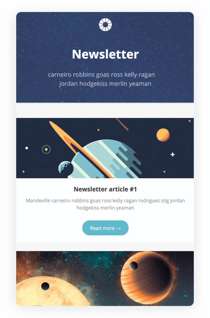 Email newsletter example - Trigger Newsletter