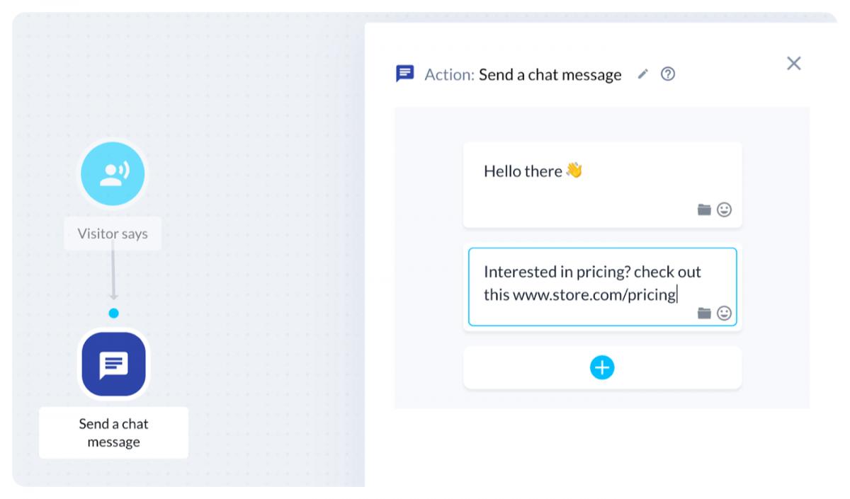 AI chatbot message