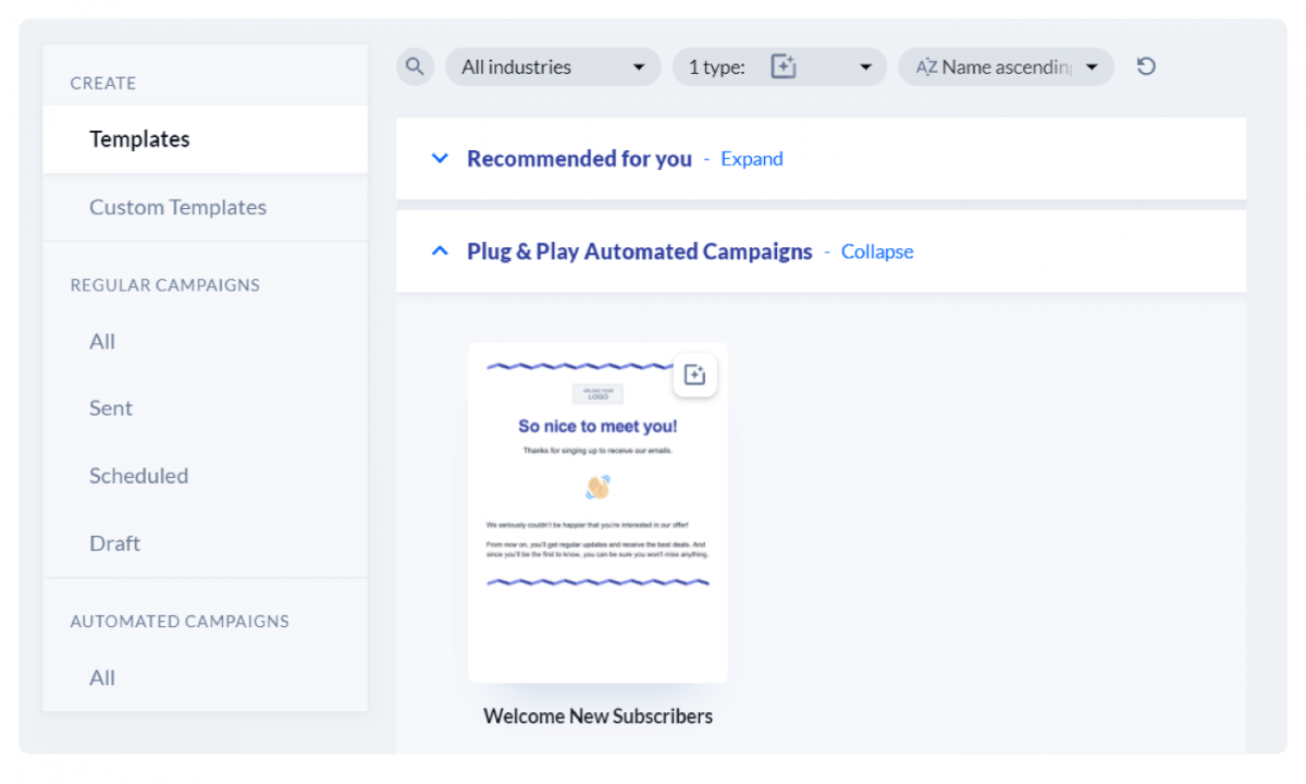 Automated email panel