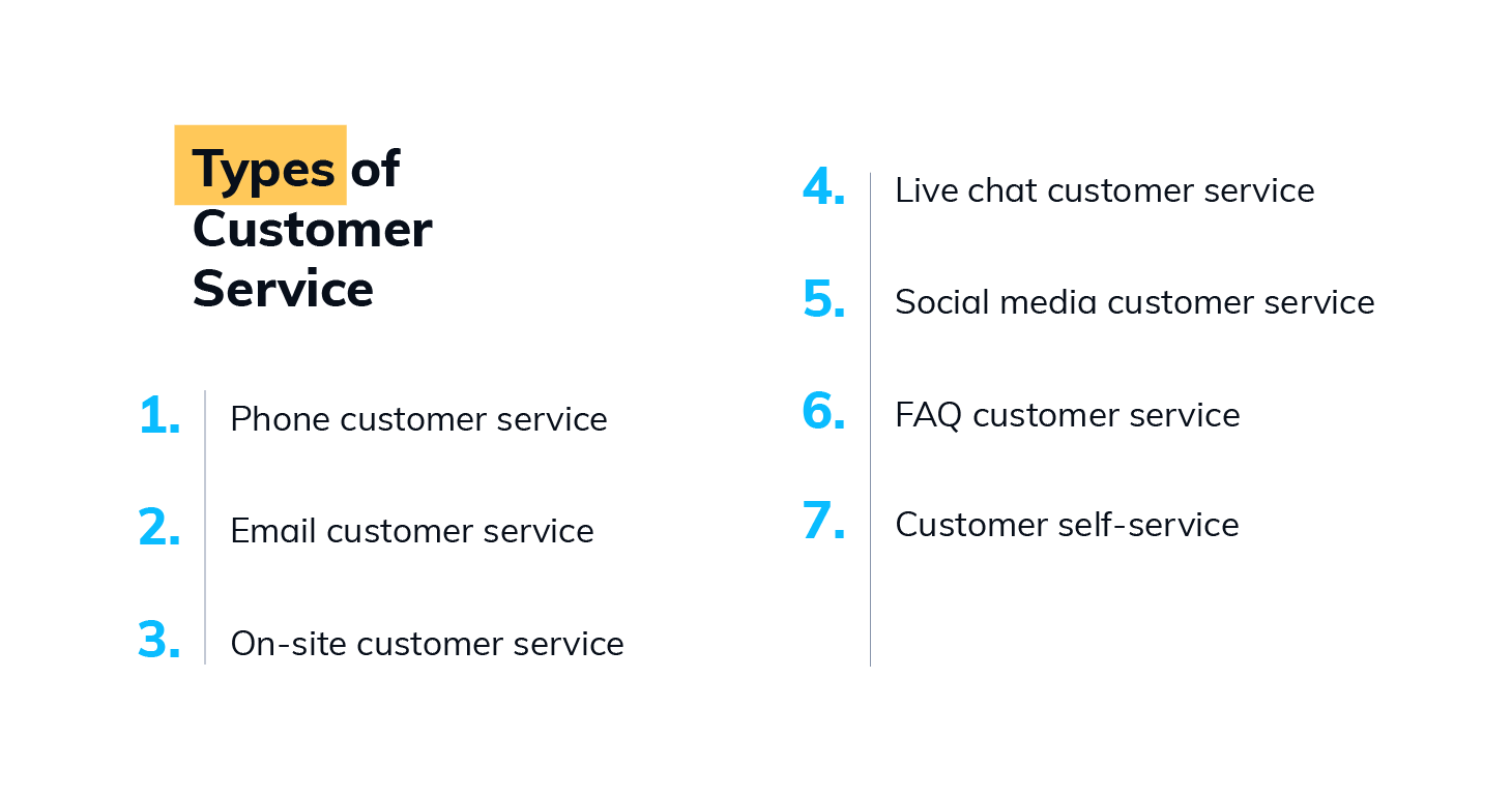 types of customer service