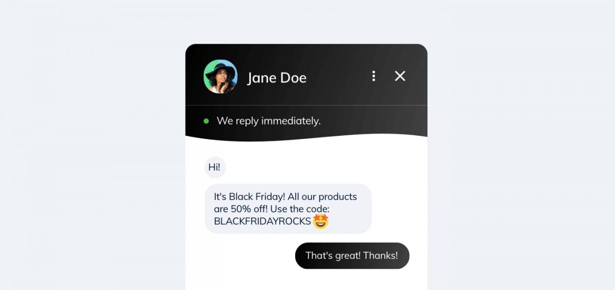 Black Friday discount information