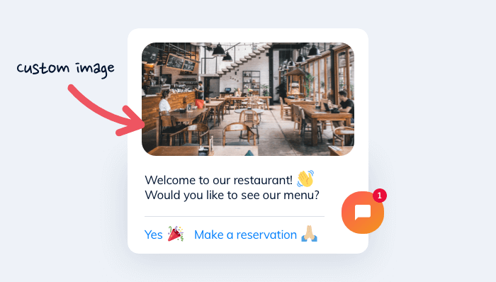 Welcome to our restaurant message