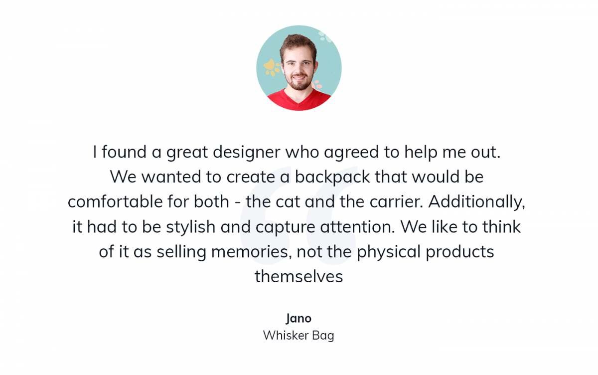 A quote about designing custom cat carriers