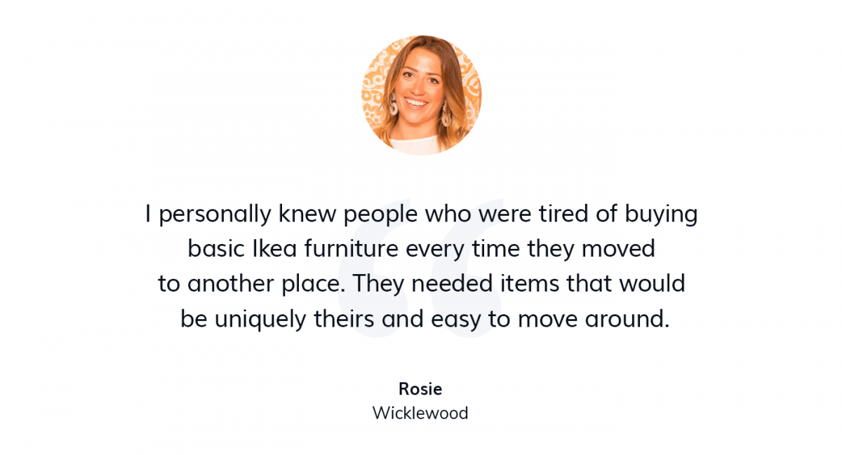 A quote from the home decor business owner