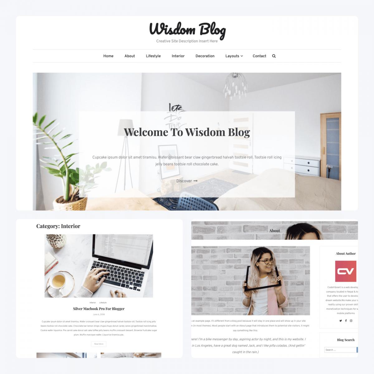 Wisdom Blog theme blog