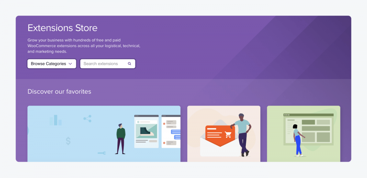 WooCommerce extensions store
