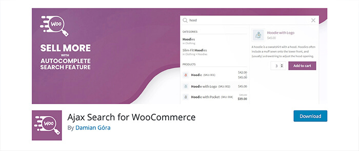 Ajax Search for WooCommerce in the app store