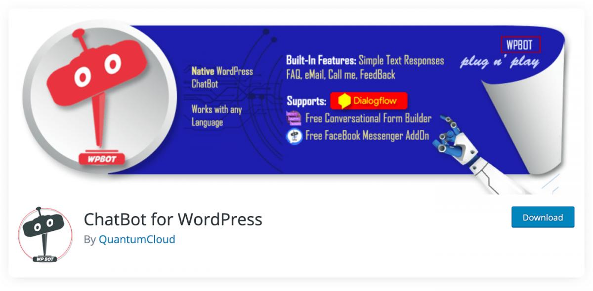 QuantumCloud Chat Bot for WordPress