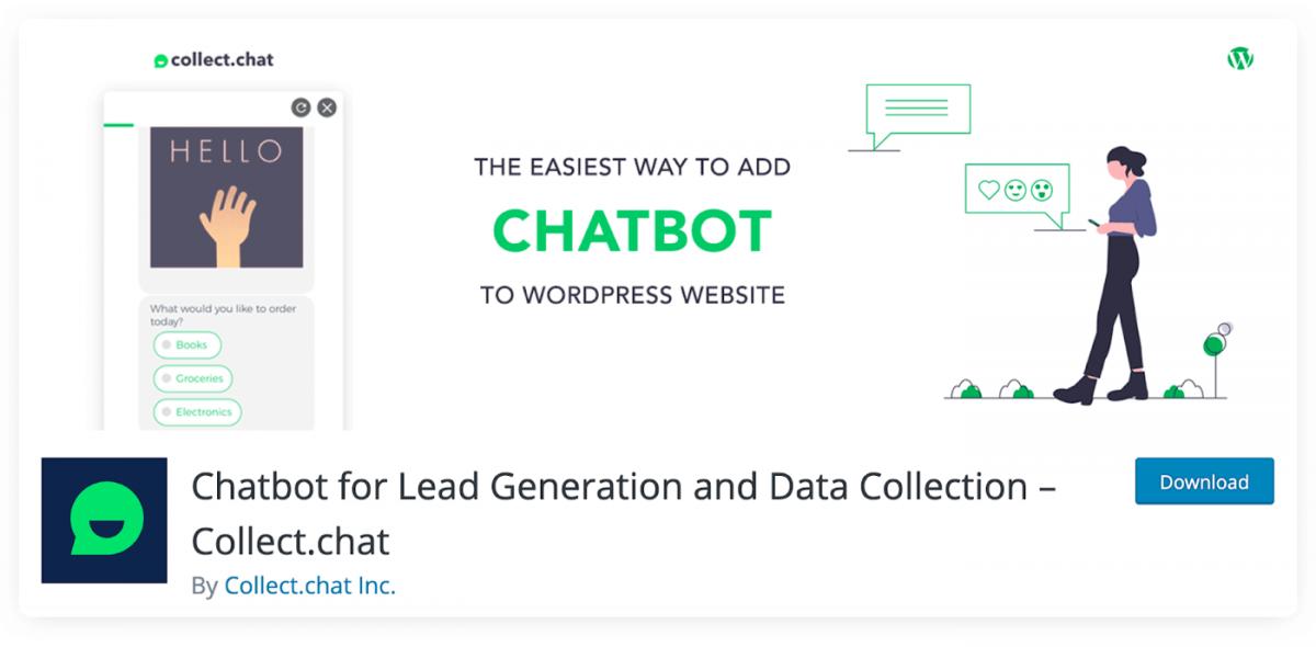 Collect.chat WordPress chatbot plugin