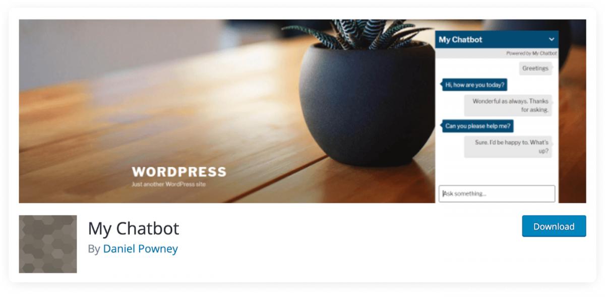 My Chatbot WordPress plugin