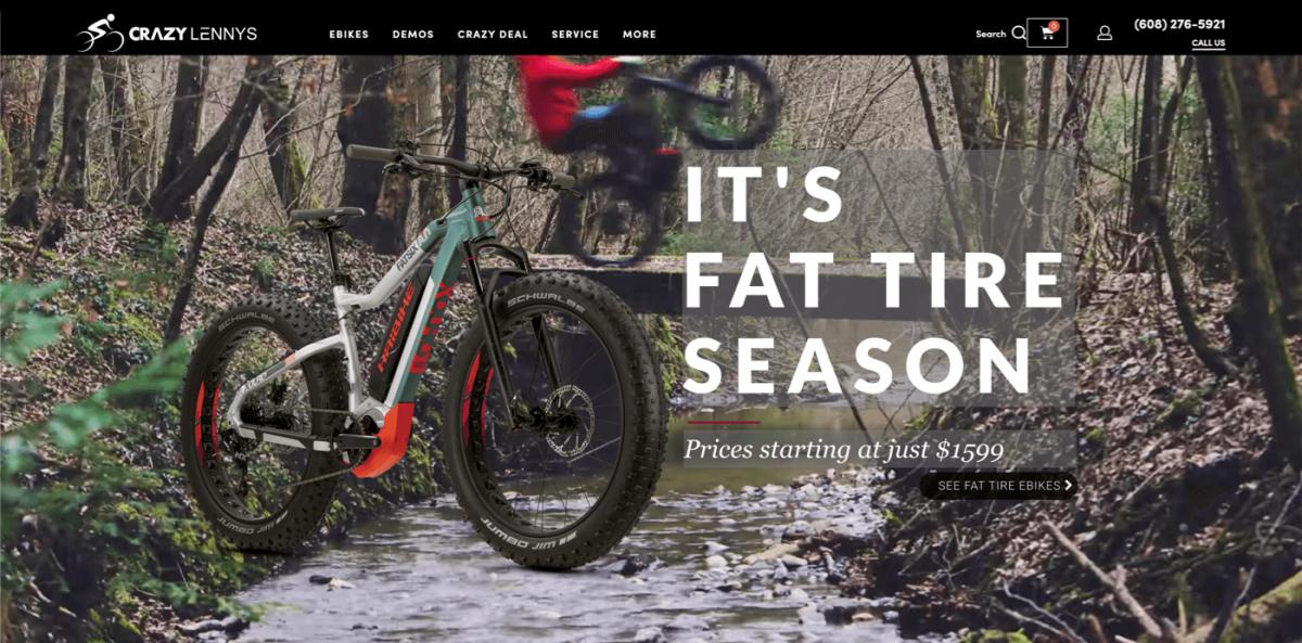 WooCommerce store example - bikes