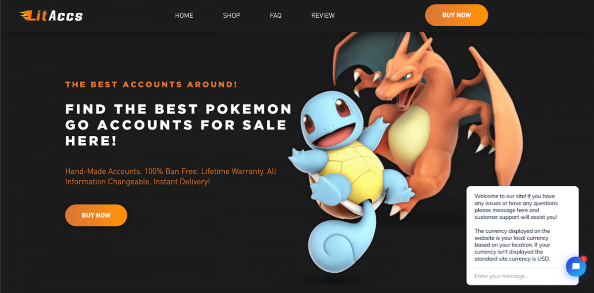 WordPress store example - video games