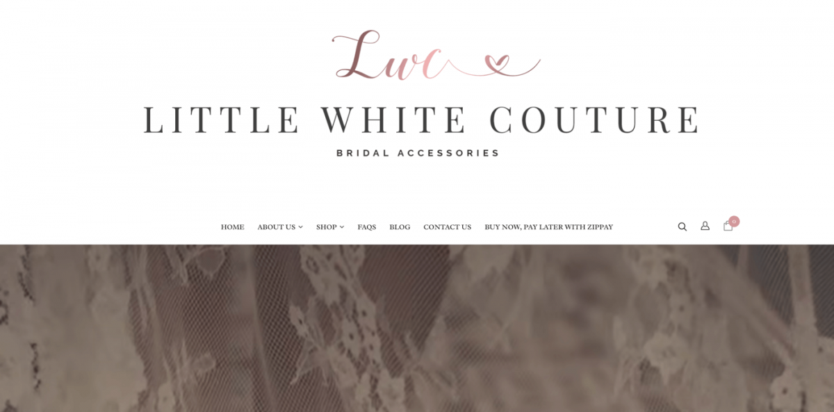 WordPress store example - wedding accessories