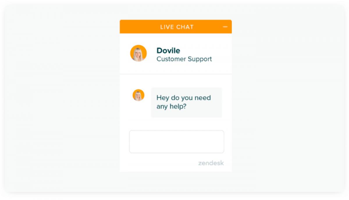 Zendesk chat widget preview